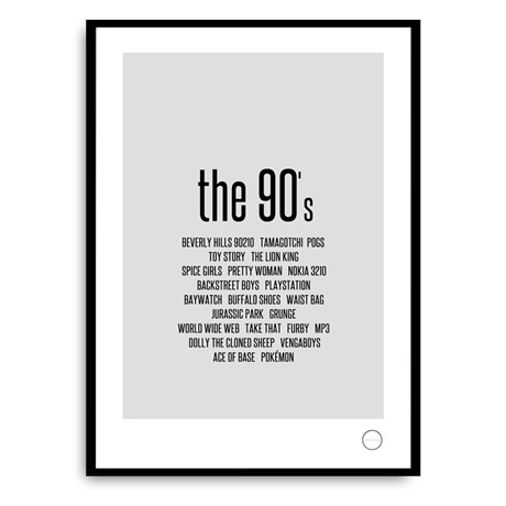 Poster – Remember the 90s