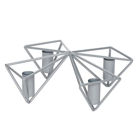 Hübsch – Ljusstake för 4 stearinljus Grå