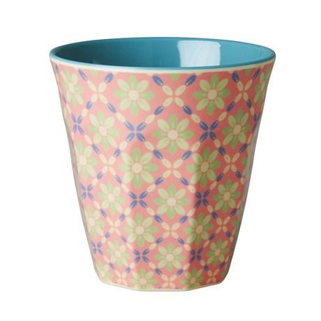 Rice – Mugg med blommönster Blommor mot rosa