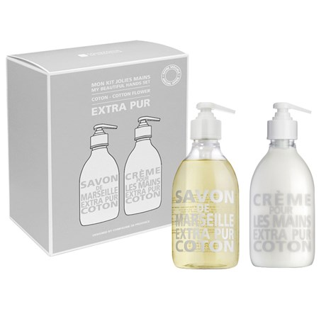Compagnie de Provence – Tvål & handkräm, Coton (2-pack)