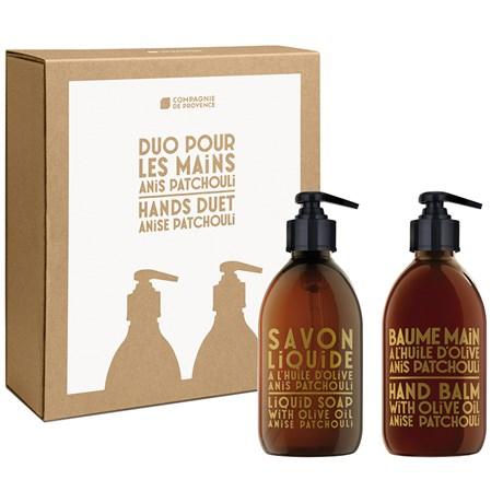Compagnie de Provence – Tvål & handkräm, Anise Patchouli (2-pack)