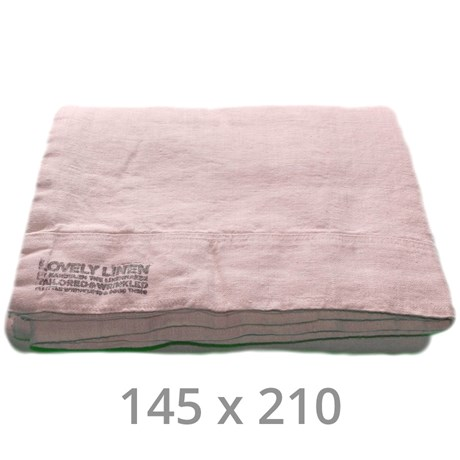 Lovely Linen sänglinne – Ljusrosa