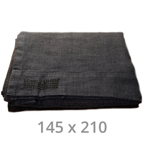 Lovely Linen sänglinne – Mörkgrå