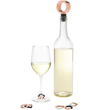 Flaskpropp & glasmarkörer – Geo Koppar