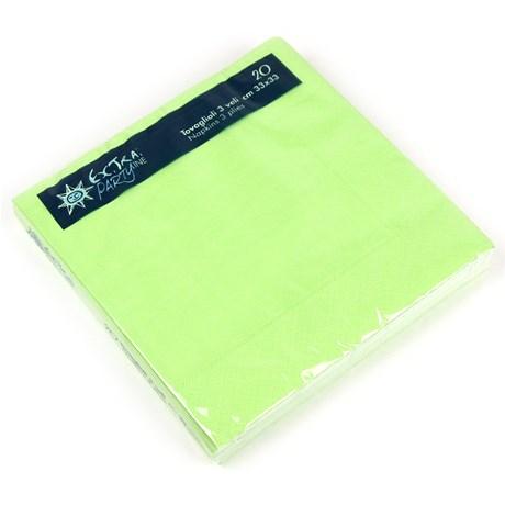 Engångsartiklar till fest skimrande grön Servetter (20-pack)