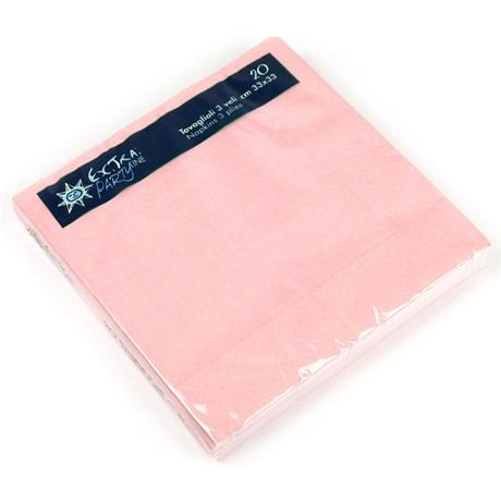 Engångsartiklar till fest skimrande rosa Servetter (20-pack)