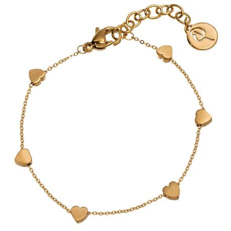 Edblad - Armband, Mini heart multi, Guld