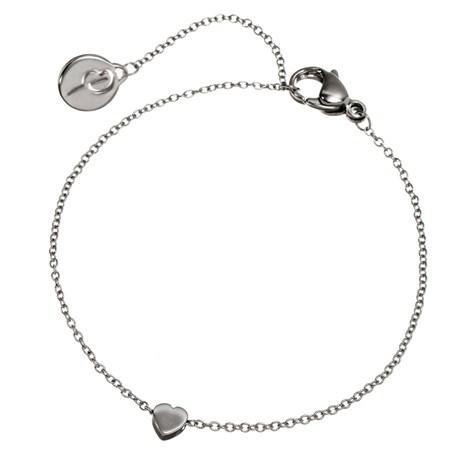 Edblad - Armband, Mini heart, Stål