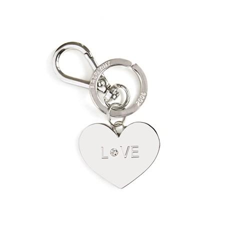 Accessoar till väskan / Nyckelring - Hjärta, Silver
