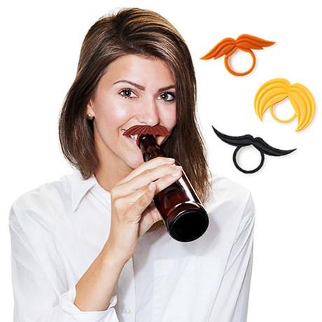 Flaskmarkörer – Mustasch (6-pack) Mustasch