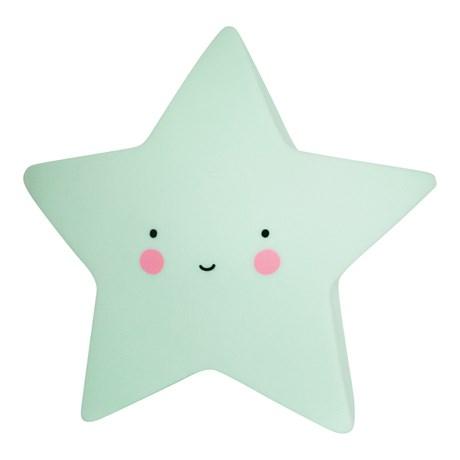 Stjärnlampa – A Little Lovely Star Light Mintgrön