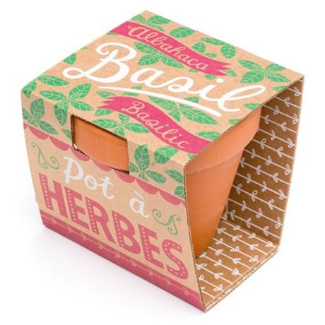 Odlingsset – Pot à Herbes Basilika
