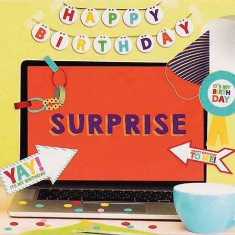 Festdekorationer till skrivbordet – Happy Birthday Multi