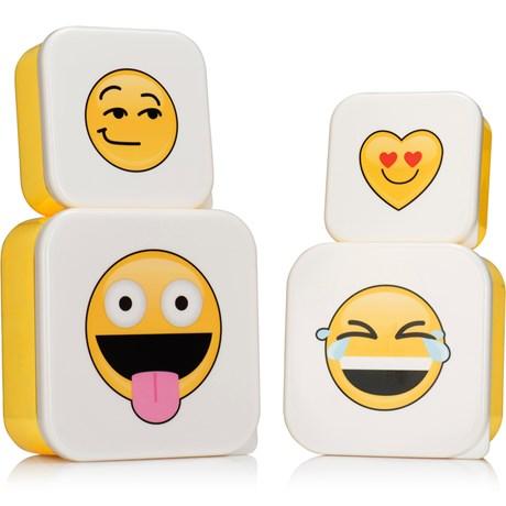Emoji – Små matlådor (4-pack) Gul