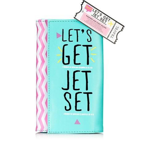 Reseplånbok – Let's Get Jetset Pastell