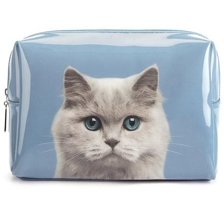 Necessär – Katt blå Stor