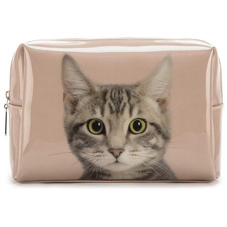 Necessär – Katt gammelrosa Stor