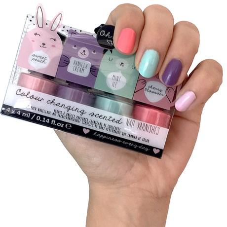 Doftande nagellack (4-pack) Pastell