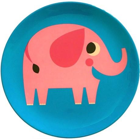 Melamintallrik – Djur Elefant