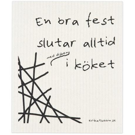 Disktrasa med rolig text – Fest Fest