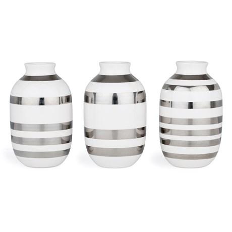 Omaggio vas, miniatyr (3-pack) - Kähler, Silver