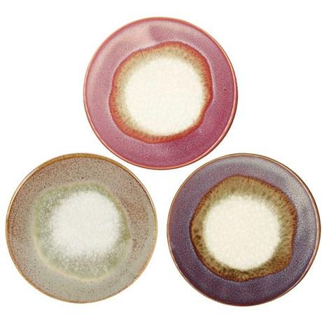 Underlägg i keramik (3-pack) Varma färger (sand rosa & lila)