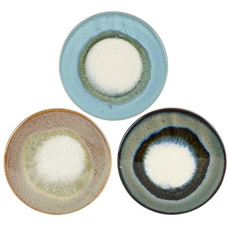 Underlägg i keramik (3-pack) Kalla färger (sand blå & gråblå)