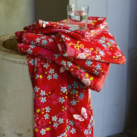 PiP Studio handdukar – Chinese Blossom, röd
