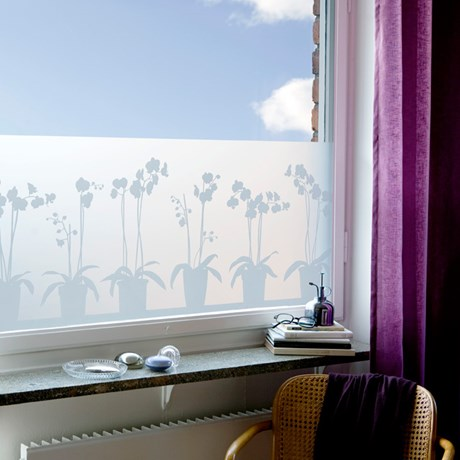 Fönsterfilm – Orkidéer 34 x 98 cm
