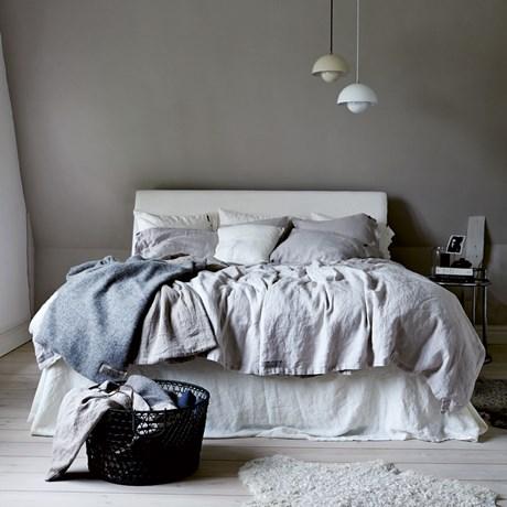 Lovely Linen sänglinne – Ljusgrå Enkelsäng