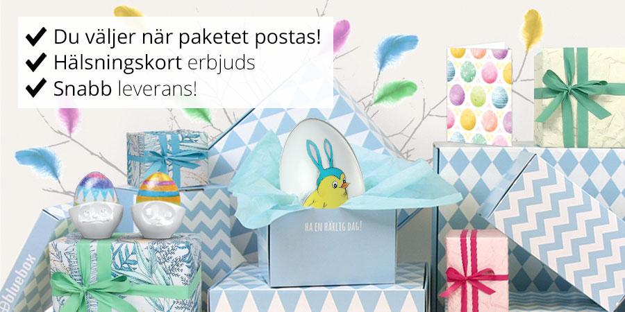 Påskägg - Skicka påskägg med godis & prylar! | Bluebox.se