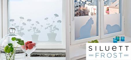 Unika Siluett Frost - Fönsterfilm / insynsskydd med mönster   Bluebox.se TW-12