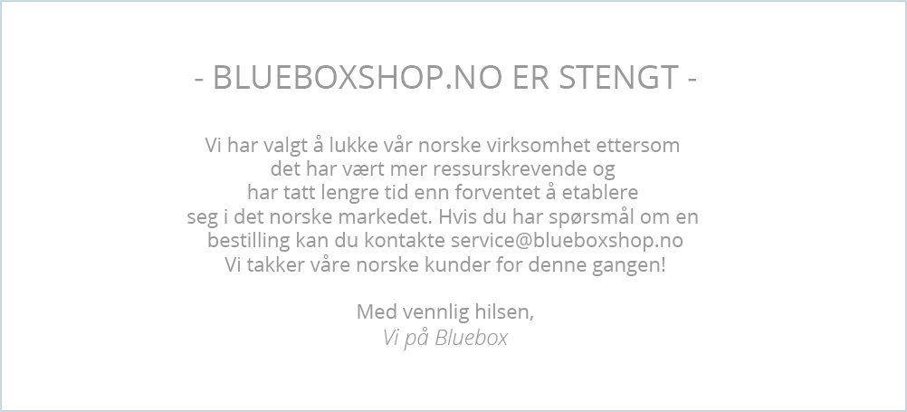 Blueboxshop.no er stengt