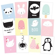 Illustrerade kort - Cute Kids (12-pack)