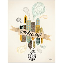 Michelle Carlslund - Kort, My City two