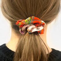 Scrunchie - Paisley Orange