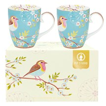 Mugg Early Bird, Blå - Pip Studio (2-pack)
