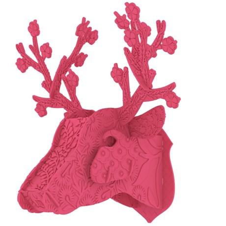MIHO - Hjorttrofé i plast, rosa/lila, Rosa