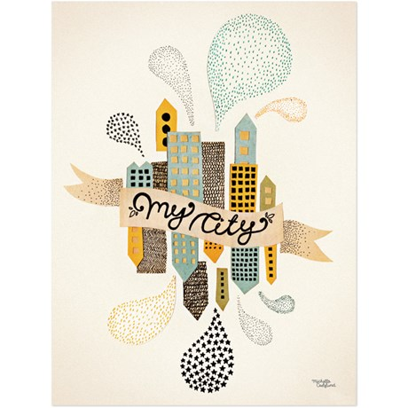 Michelle Carlslund - Poster, My City two