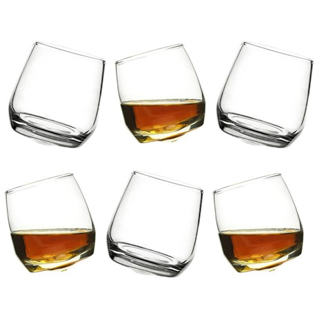 Sagaform - Whiskyglas med rundad botten (6-pack)