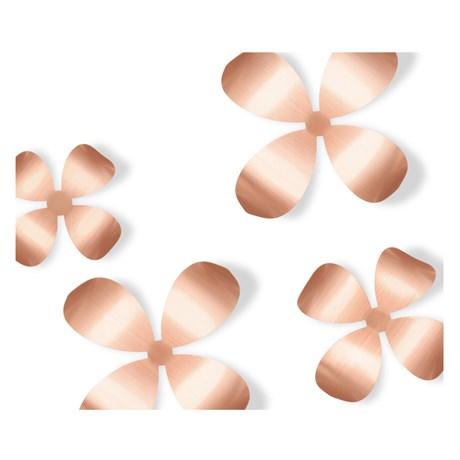 Väggdekor - Blommor (9-pack), Koppar