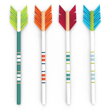 Blyertspennor med motiv (4-pack), Arrow
