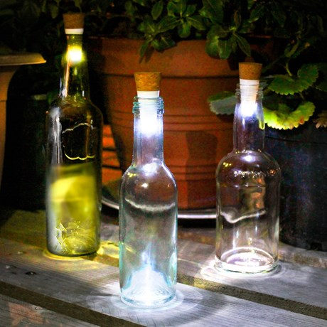 Flasklampa - Bottle light, Vit