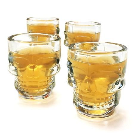 Shotglas - Dödskallar (4-pack), Klar