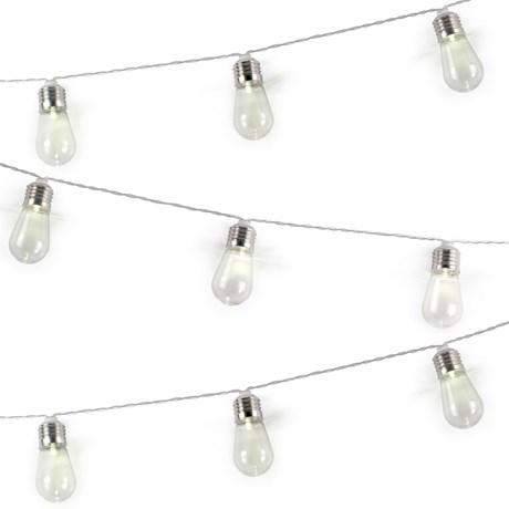 Ljusslinga - Glödlampor, Silver
