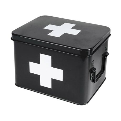 Medicinlåda - Svart, Medium