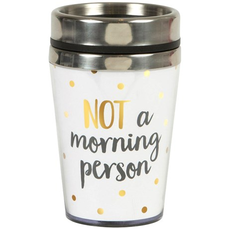 Take away-mugg - Not a morning person