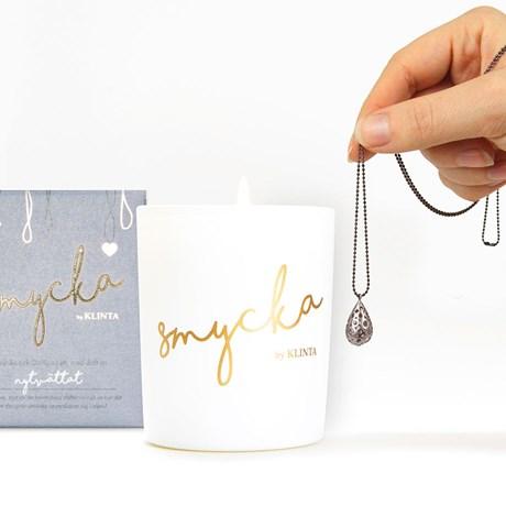 Klinta doftljus med smycke - Nytvättat, 45 h