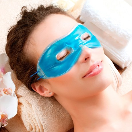 Ögonmask med gel, Blå