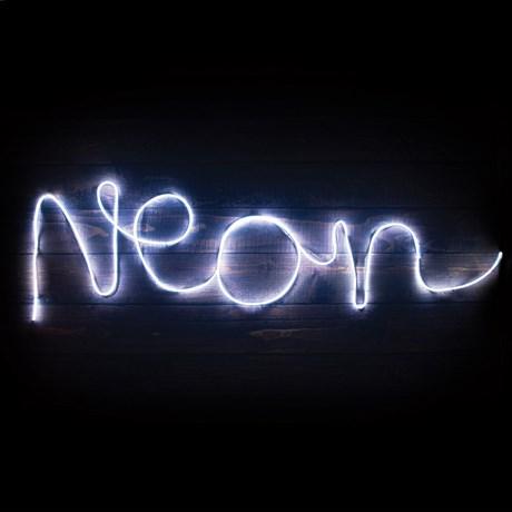 Formbar ljusslinga - Gör egen neonskylt, Vit